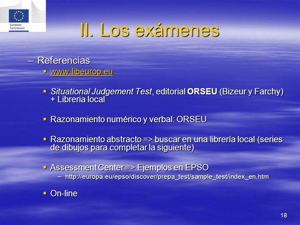 II. Los exámenes Referencias www.libeurop.eu