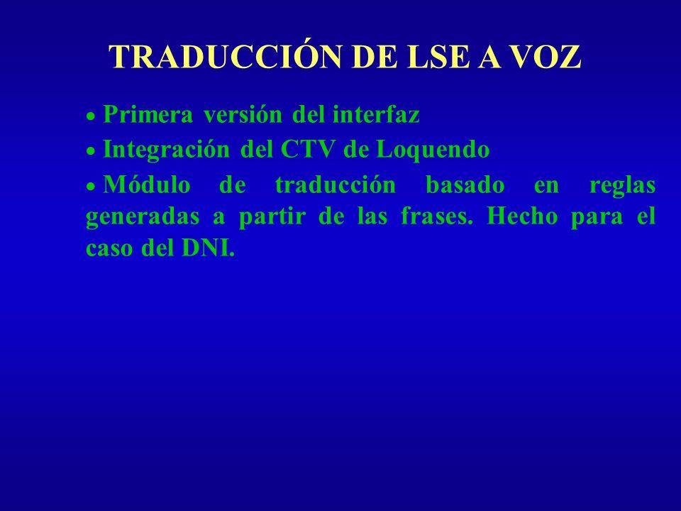TRADUCCIÓN DE LSE A VOZ Introducción Tipos de Evaluación