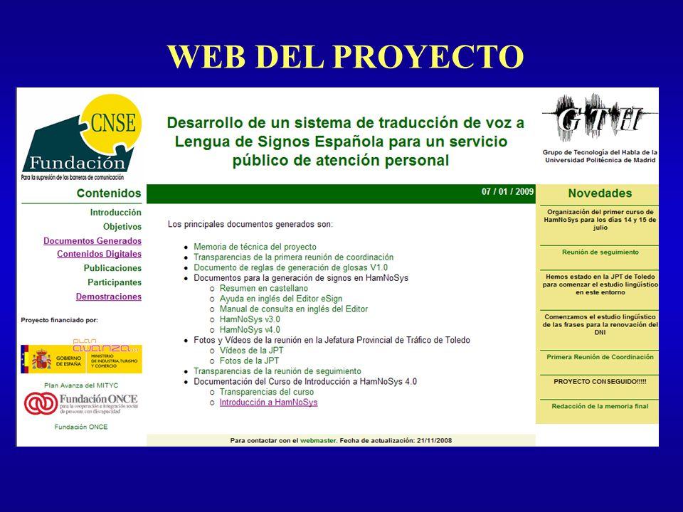WEB DEL PROYECTO Introducción Tipos de Evaluación Sistema de Diálogo