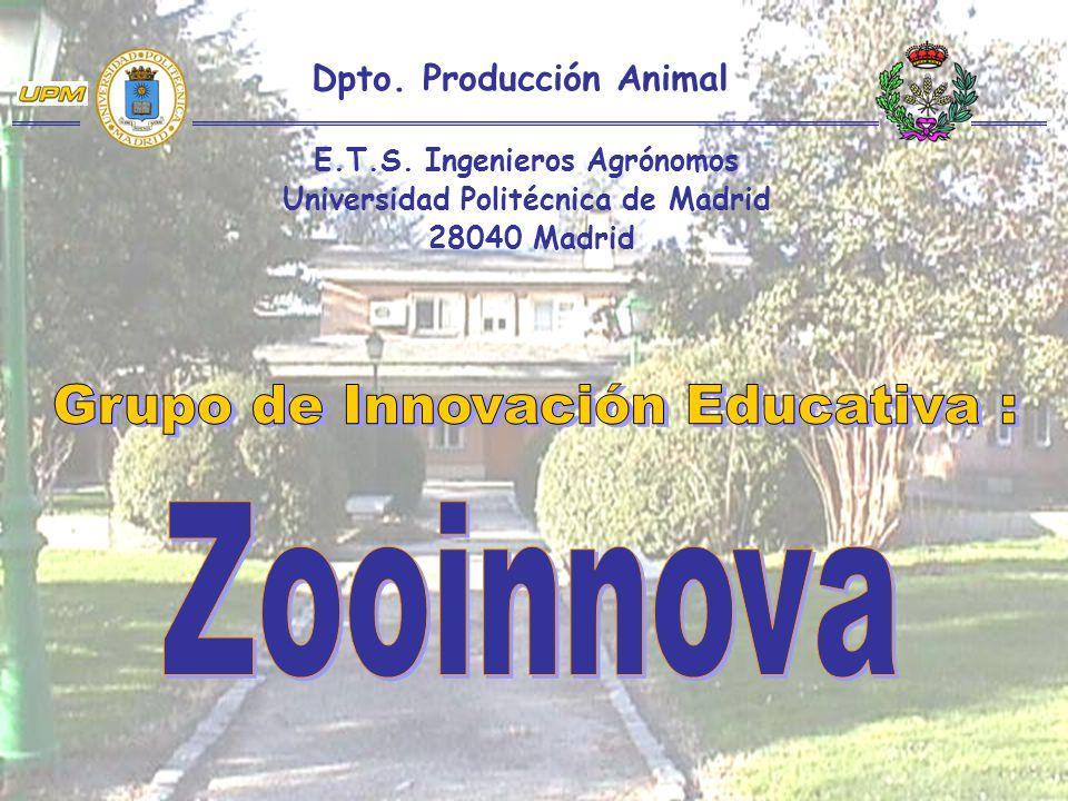 Zooinnova Grupo de Innovación Educativa : Dpto. Producción Animal