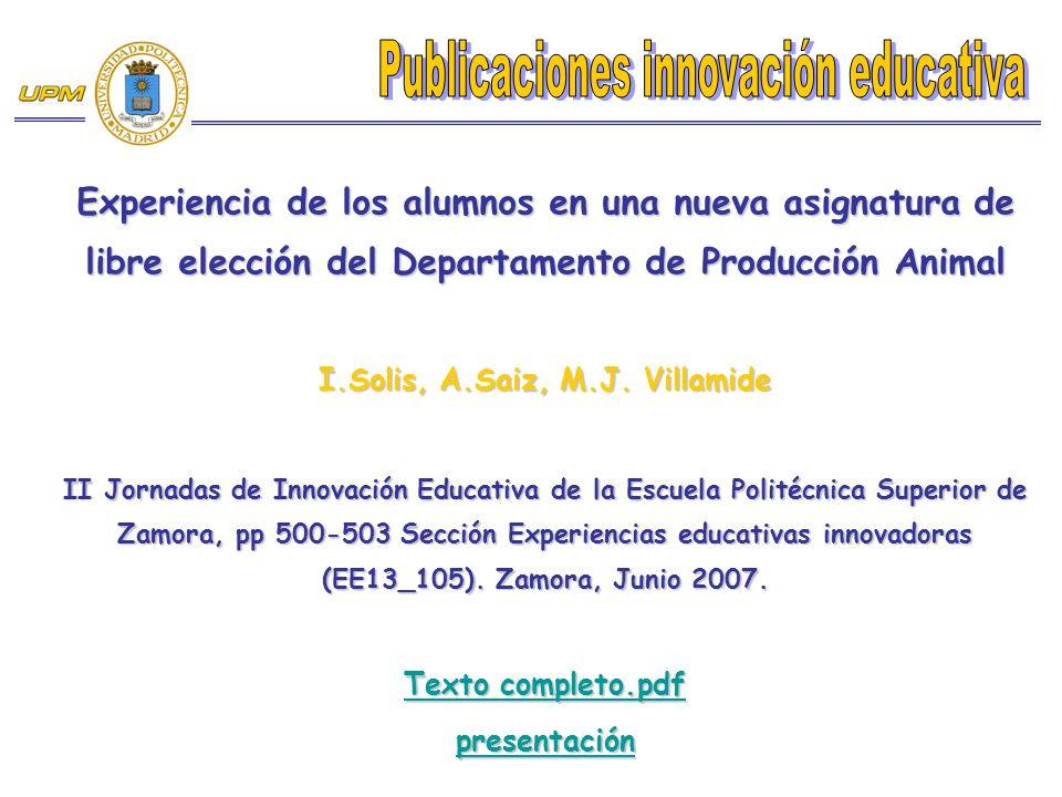 I.Solis, A.Saiz, M.J. Villamide