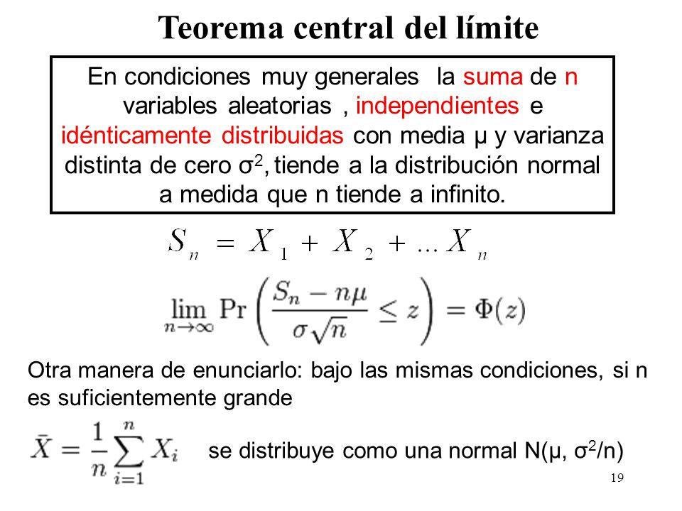 Teorema central del límite
