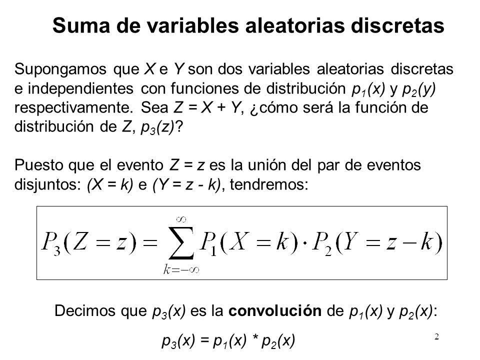 Suma de variables aleatorias discretas