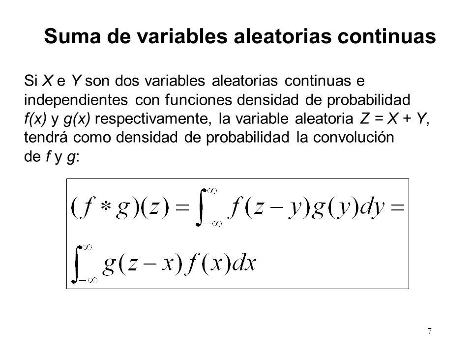 Suma de variables aleatorias continuas