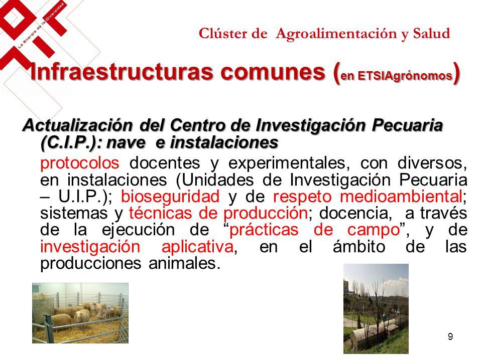 Infraestructuras comunes (en ETSIAgrónomos)