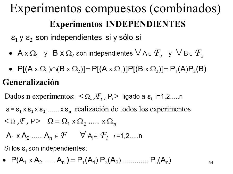 Experimentos compuestos (combinados)