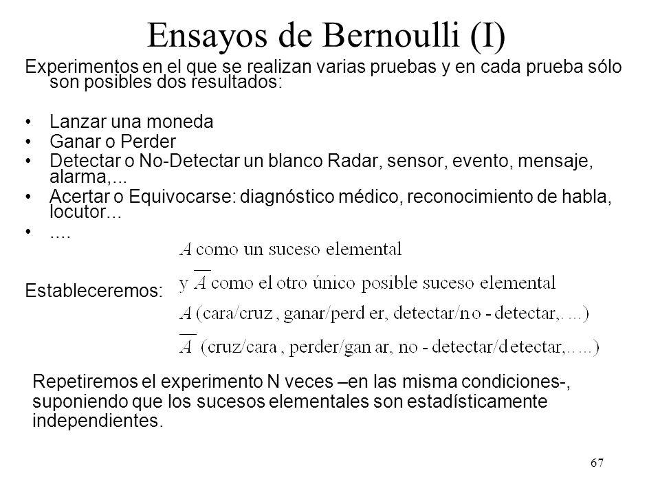 Ensayos de Bernoulli (I)