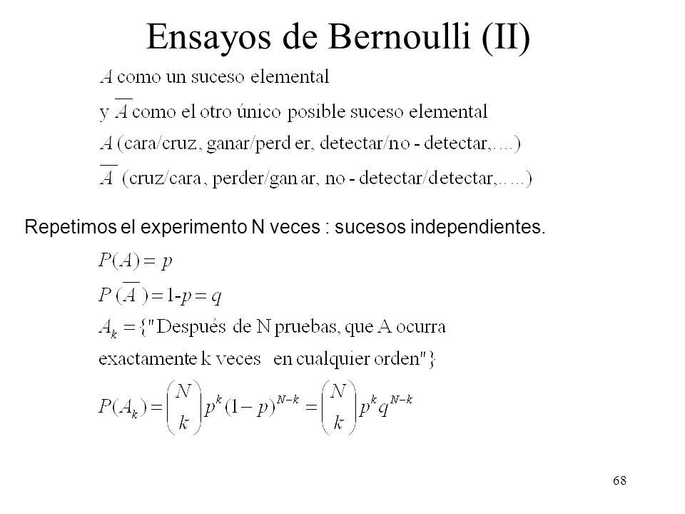 Ensayos de Bernoulli (II)