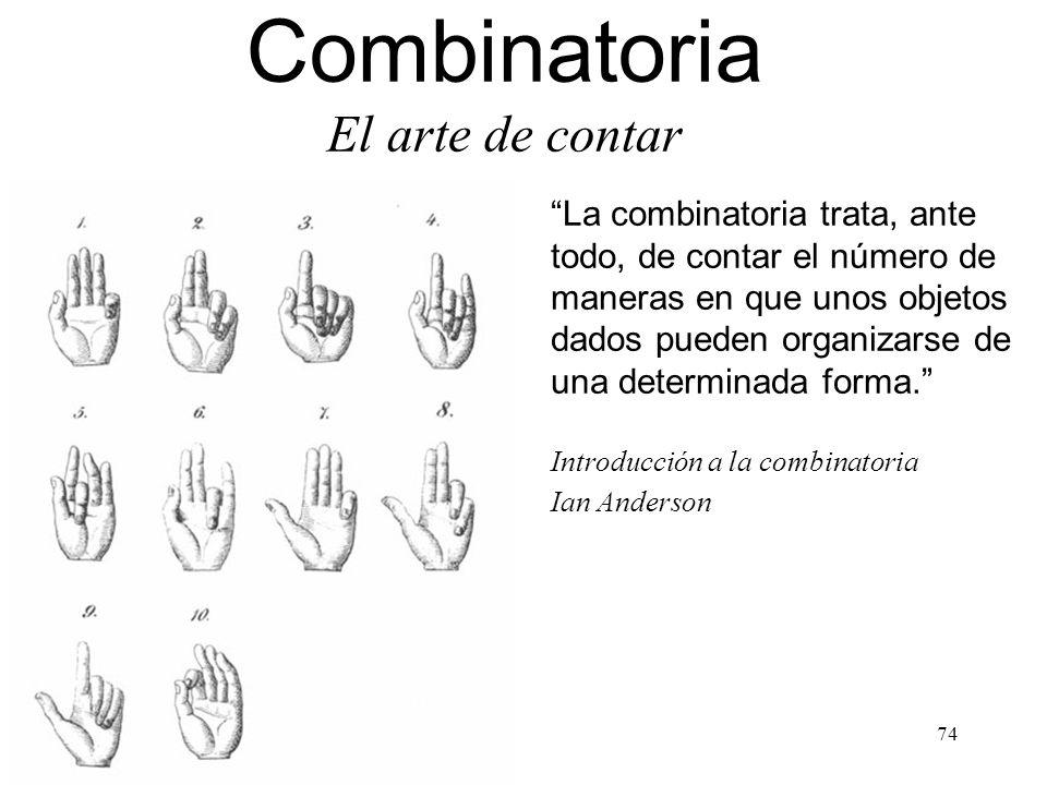 Combinatoria El arte de contar La combinatoria trata, ante