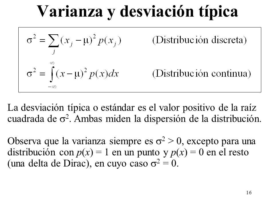Varianza y desviación típica