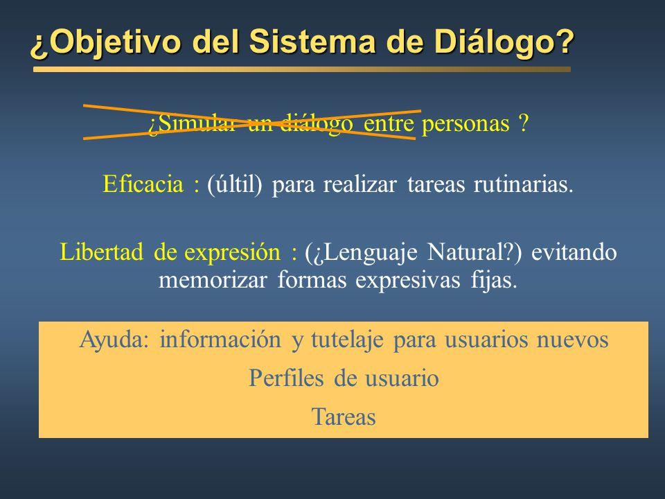 ¿Objetivo del Sistema de Diálogo