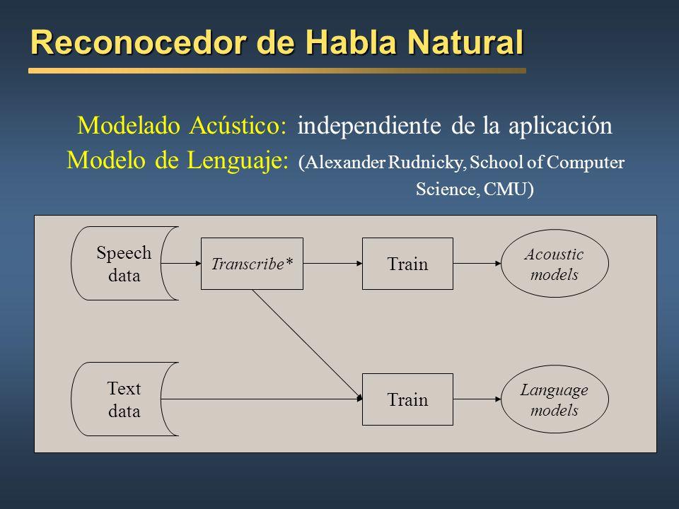 Reconocedor de Habla Natural