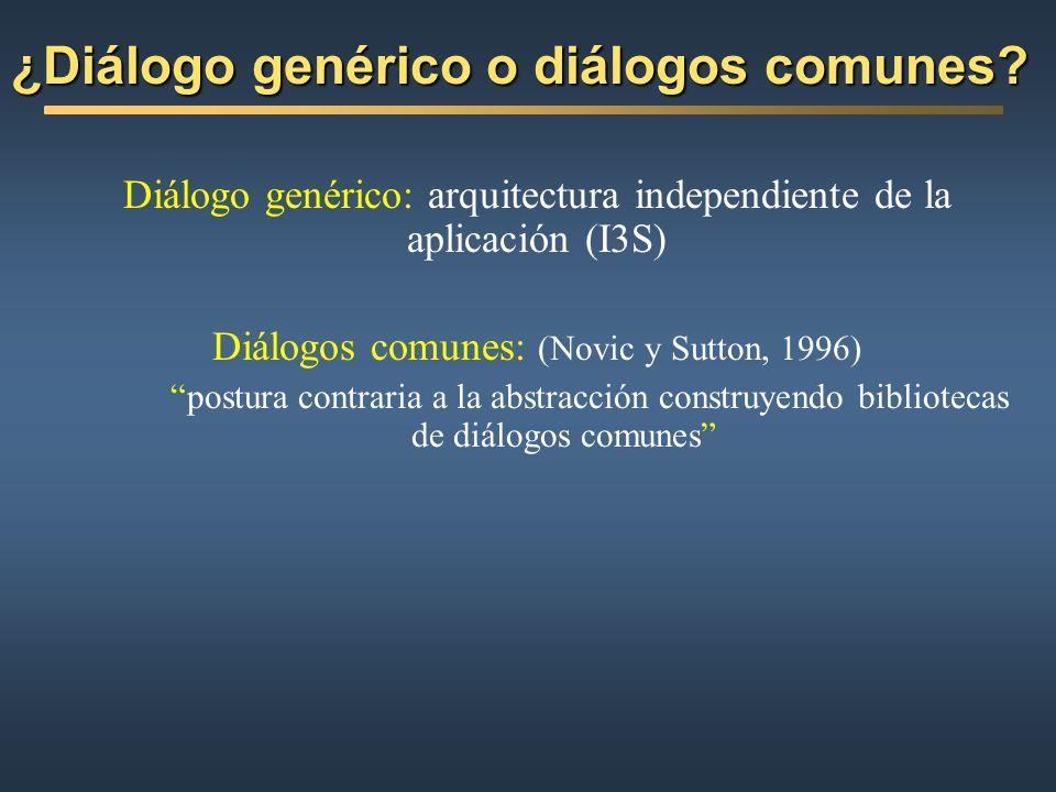 ¿Diálogo genérico o diálogos comunes