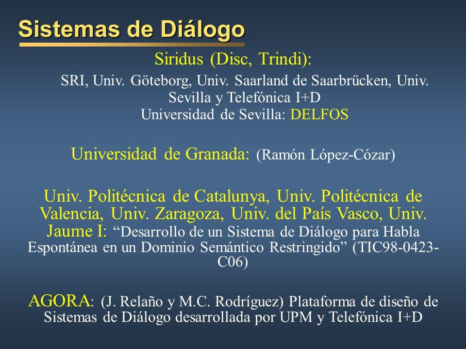 Sistemas de Diálogo Siridus (Disc, Trindi):
