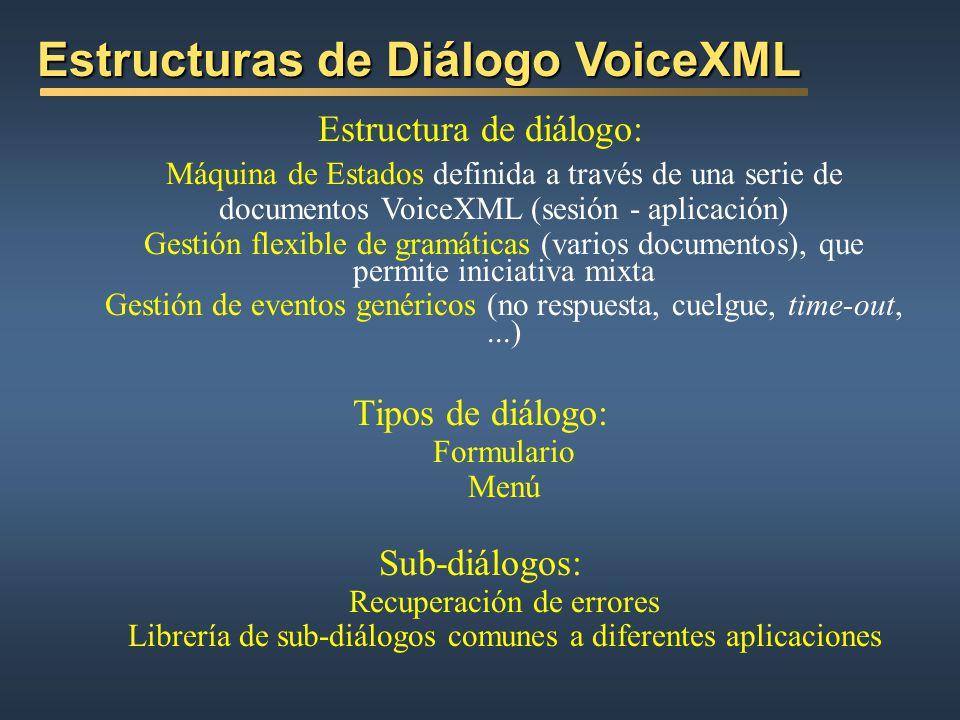 Estructuras de Diálogo VoiceXML