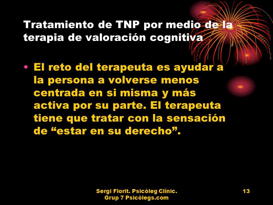 Tratamiento de TNP por medio de la terapia de valoración cognitiva