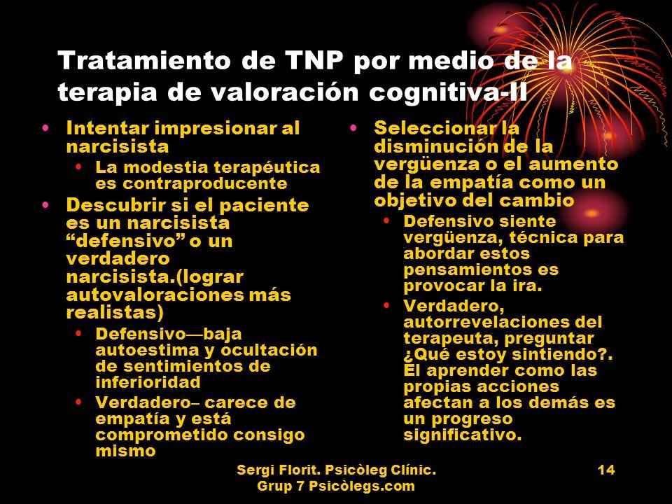 Tratamiento de TNP por medio de la terapia de valoración cognitiva-II