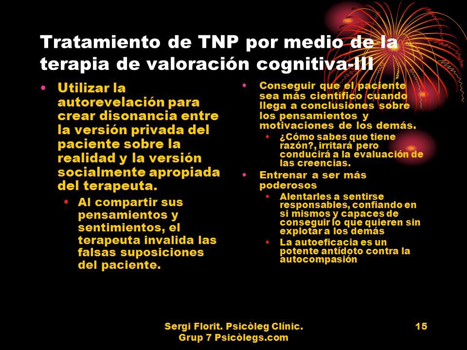 Tratamiento de TNP por medio de la terapia de valoración cognitiva-III