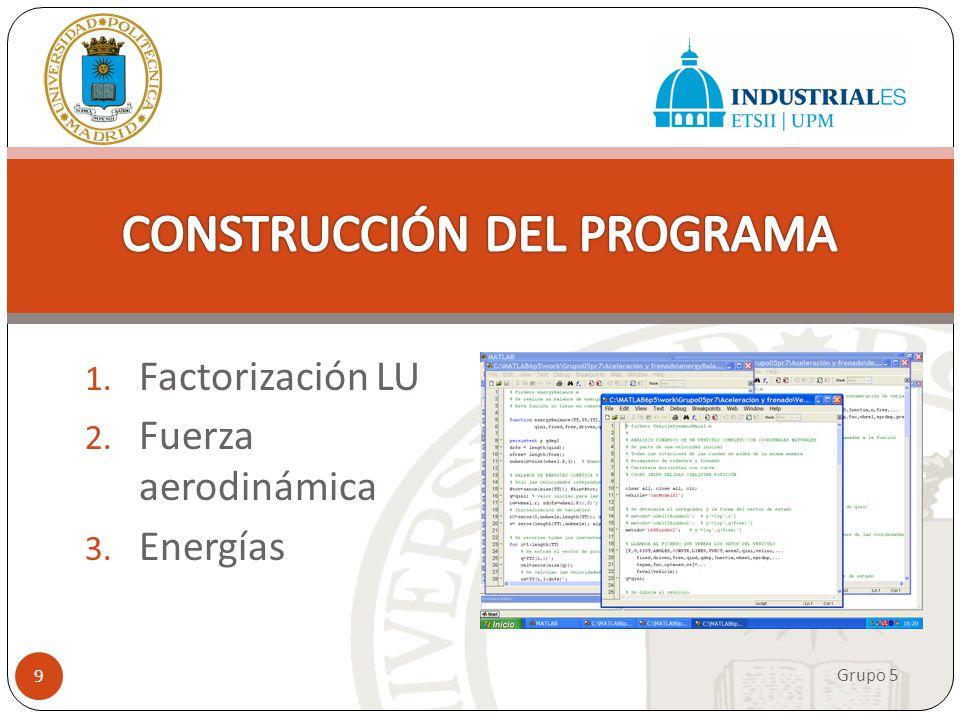 CONSTRUCCIÓN DEL PROGRAMA