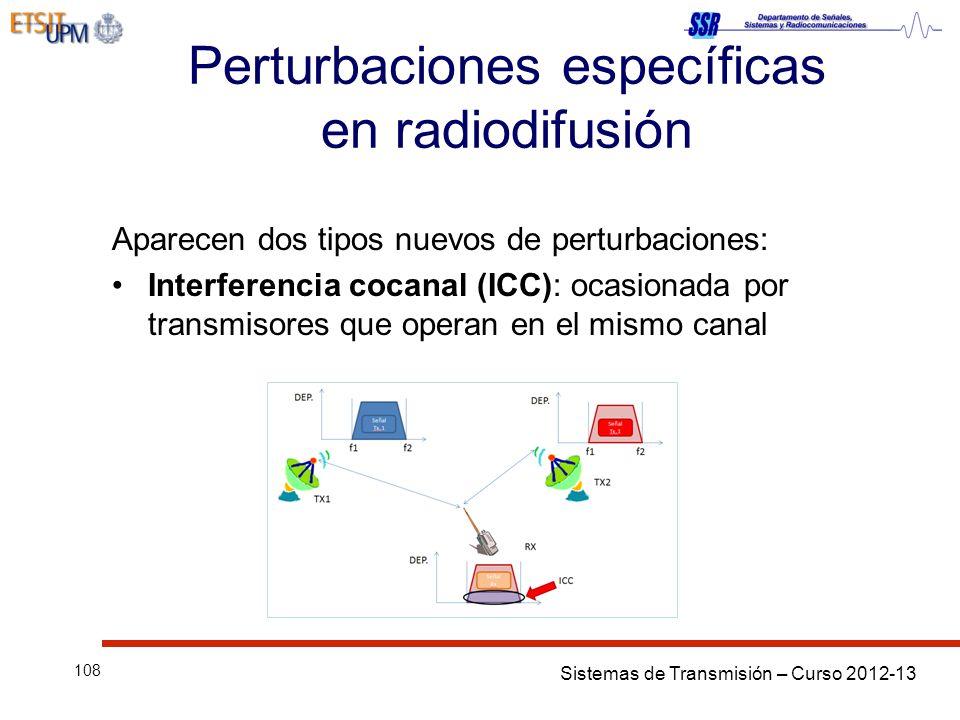 Perturbaciones específicas en radiodifusión