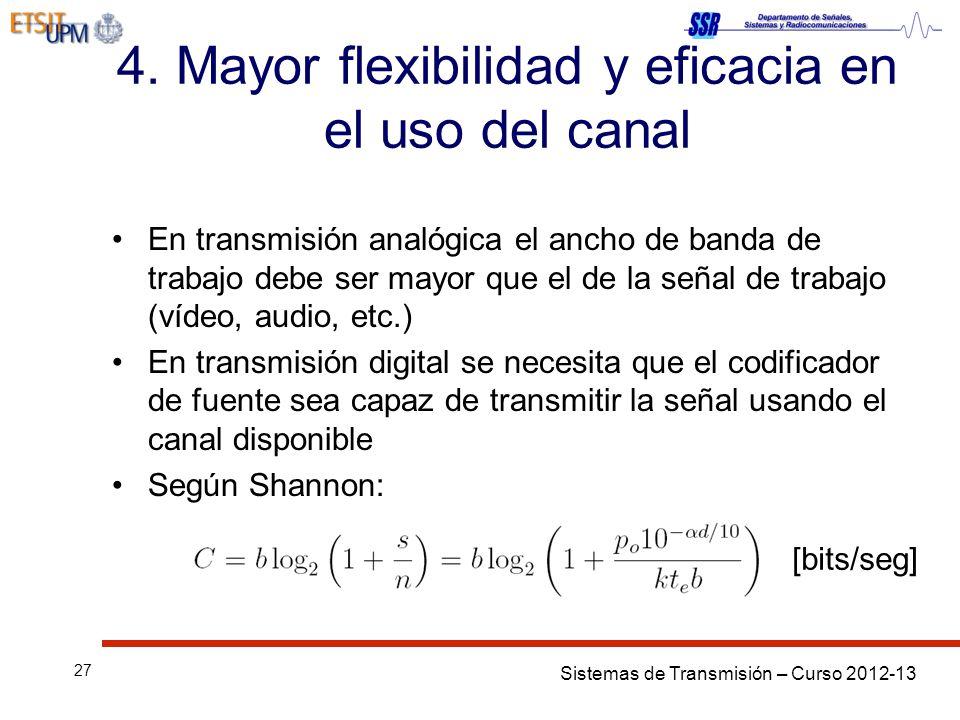 4. Mayor flexibilidad y eficacia en el uso del canal