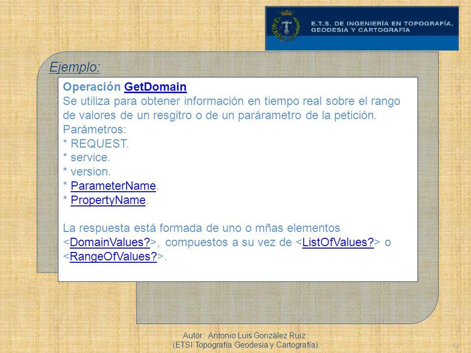 Ejemplo: Operación GetDomain
