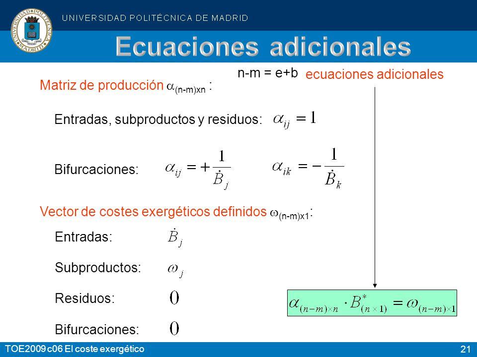 Ecuaciones adicionales