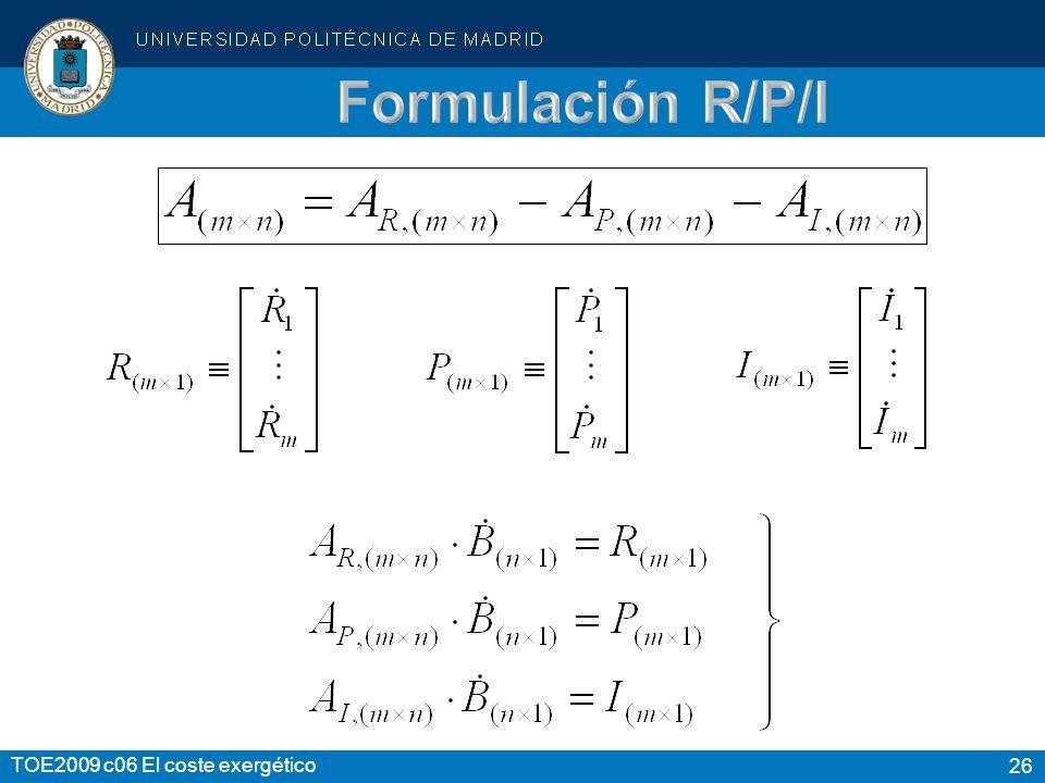 Formulación R/P/I