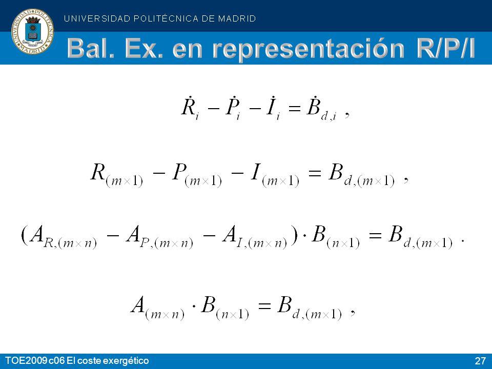 Bal. Ex. en representación R/P/I
