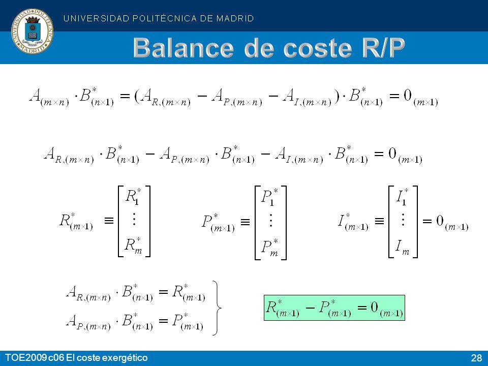 Balance de coste R/P