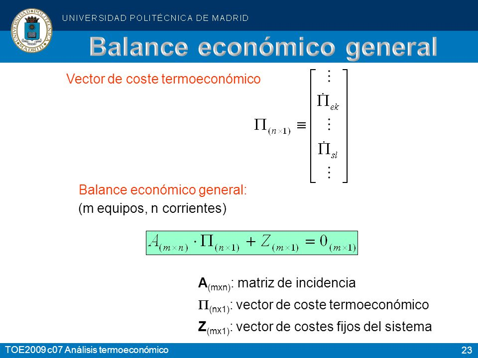 Balance económico general