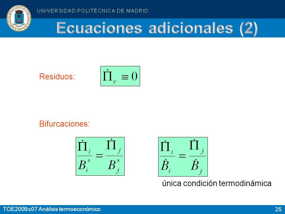 Ecuaciones adicionales (2)