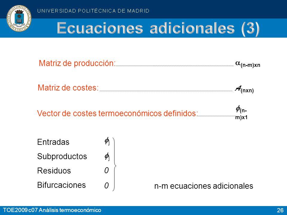 Ecuaciones adicionales (3)