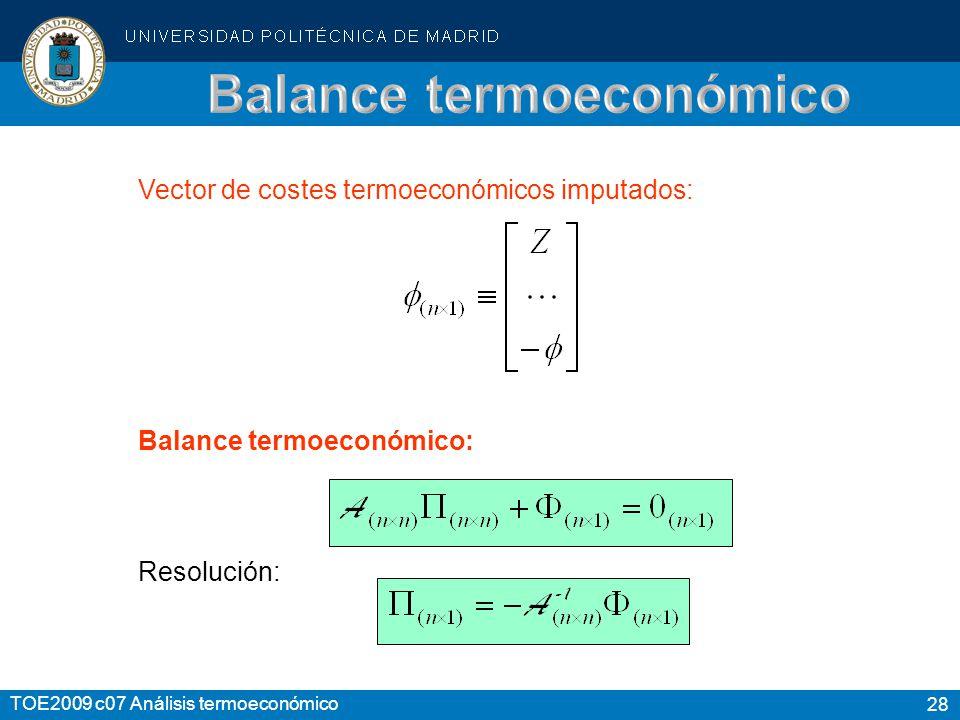 Balance termoeconómico