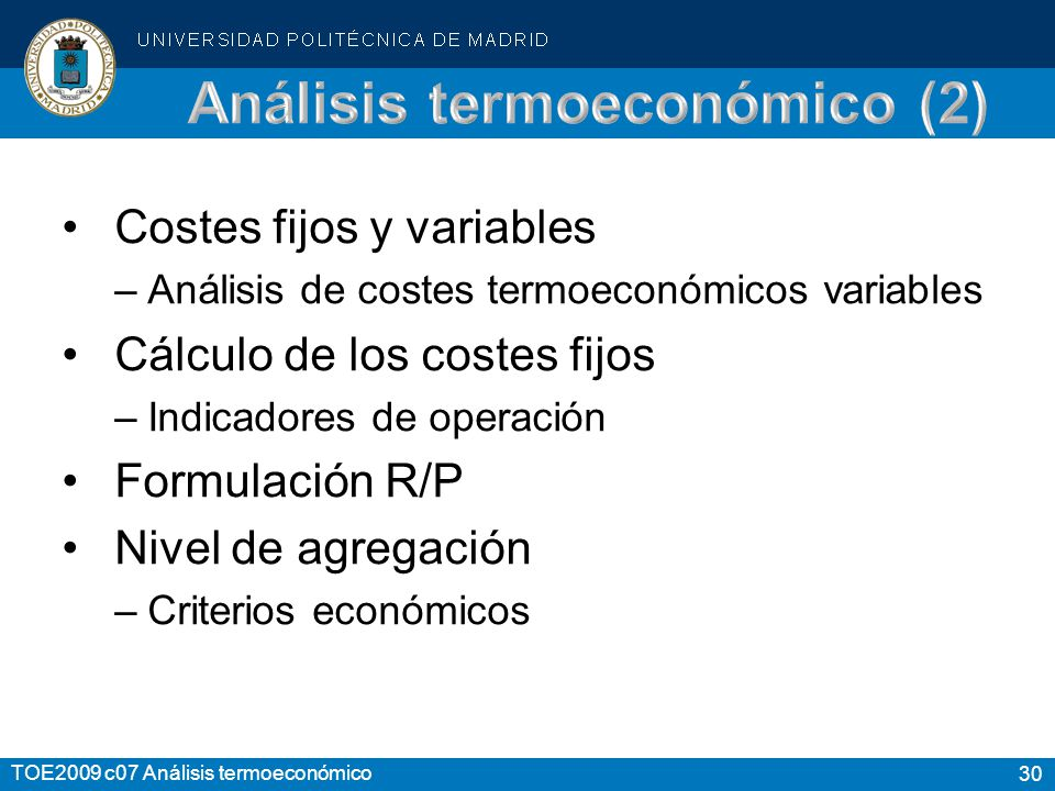 Análisis termoeconómico (2)