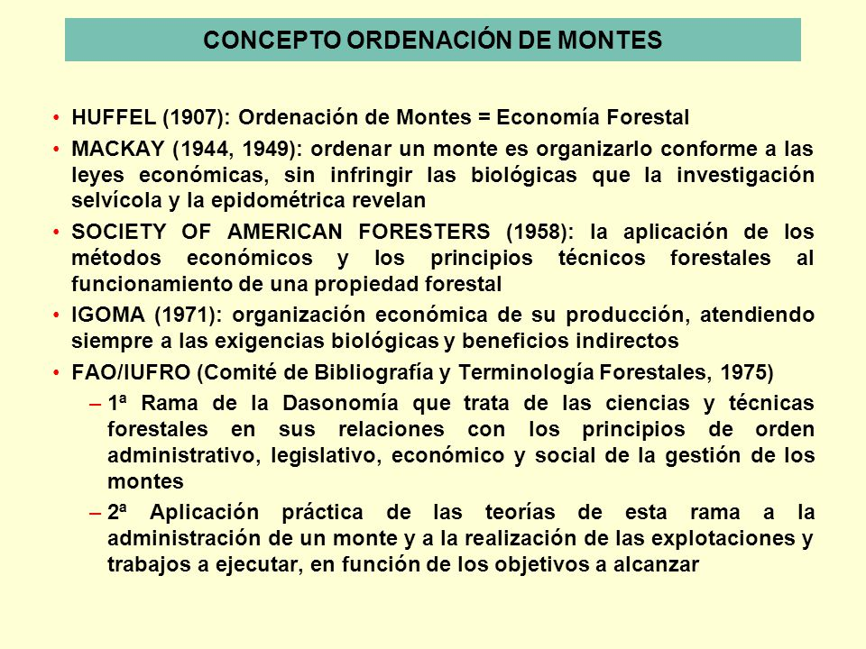 CONCEPTO ORDENACIÓN DE MONTES
