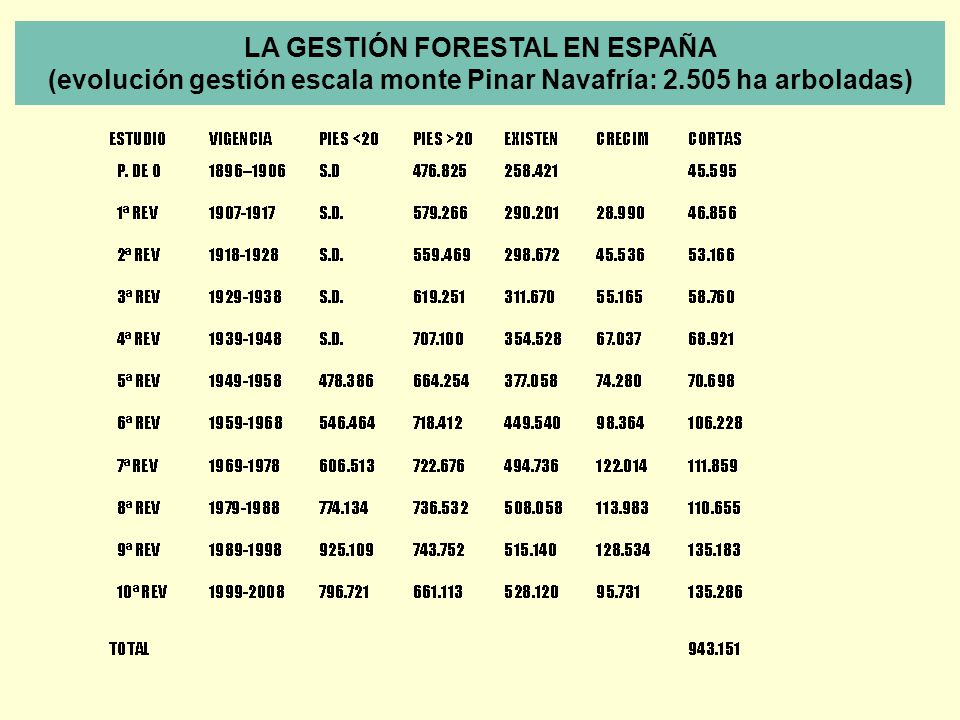 LA GESTIÓN FORESTAL EN ESPAÑA