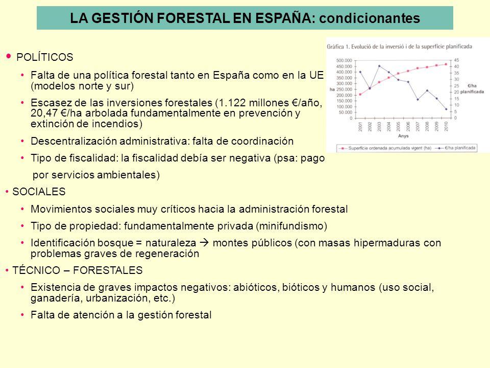 LA GESTIÓN FORESTAL EN ESPAÑA: condicionantes