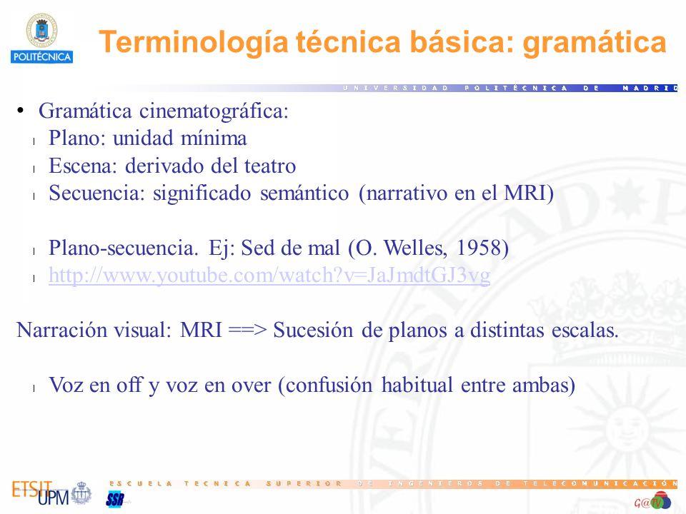 Terminología técnica básica: gramática