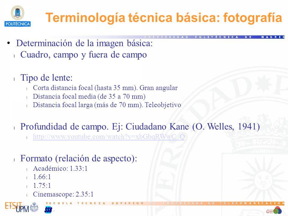Terminología técnica básica: fotografía