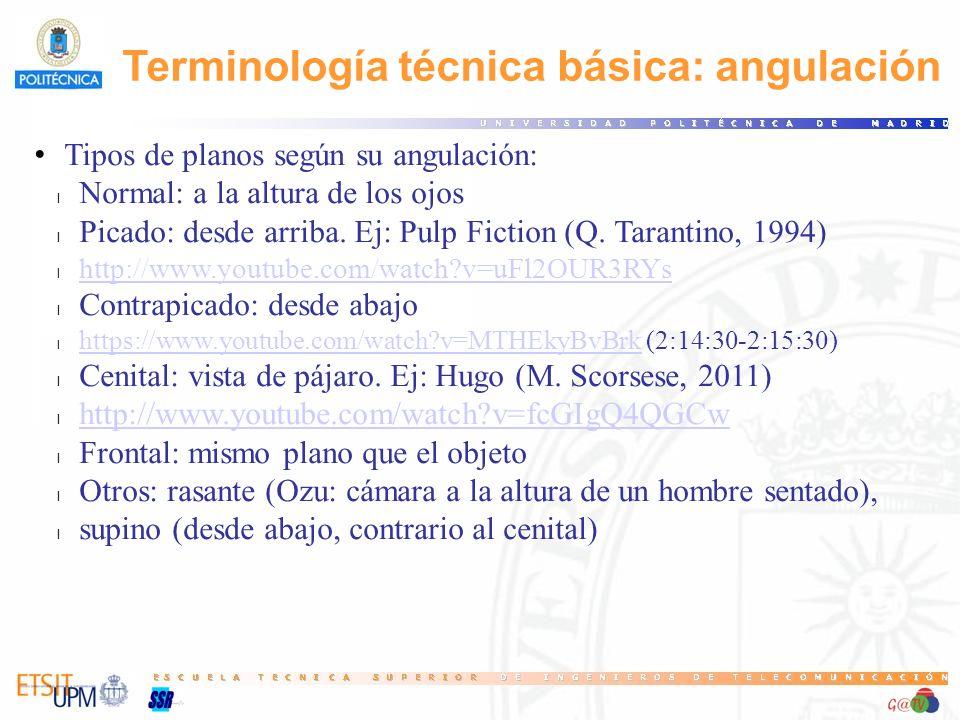 Terminología técnica básica: angulación