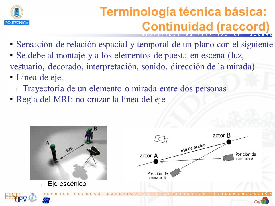 Terminología técnica básica: Continuidad (raccord)