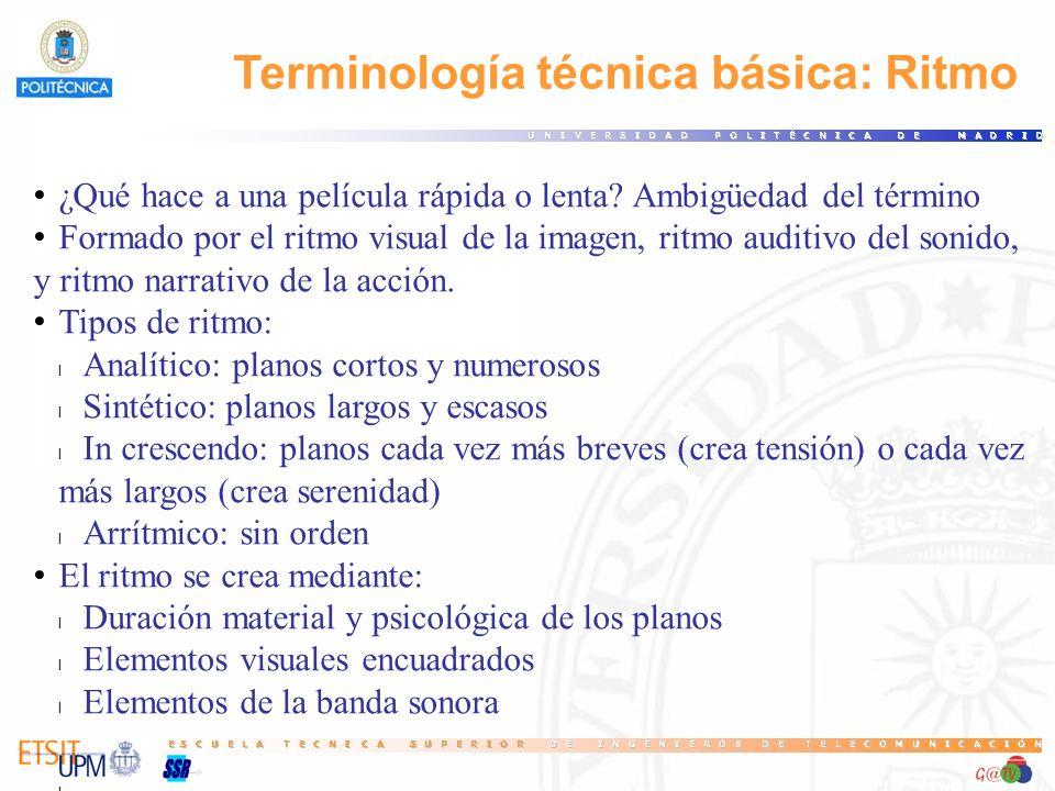 Terminología técnica básica: Ritmo