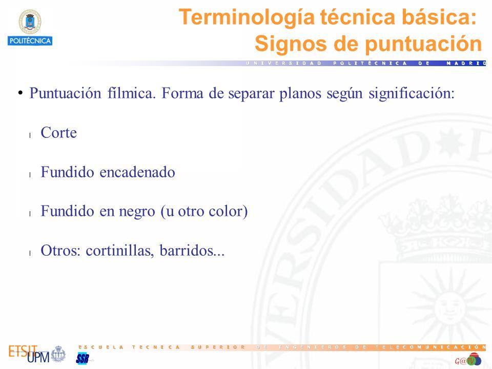 Terminología técnica básica: Signos de puntuación