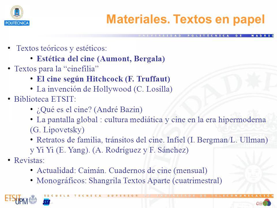 Materiales. Textos en papel