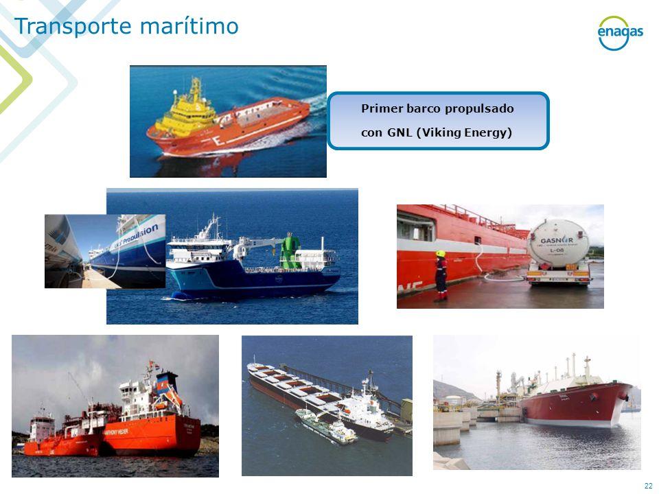 Primer barco propulsado con GNL (Viking Energy)