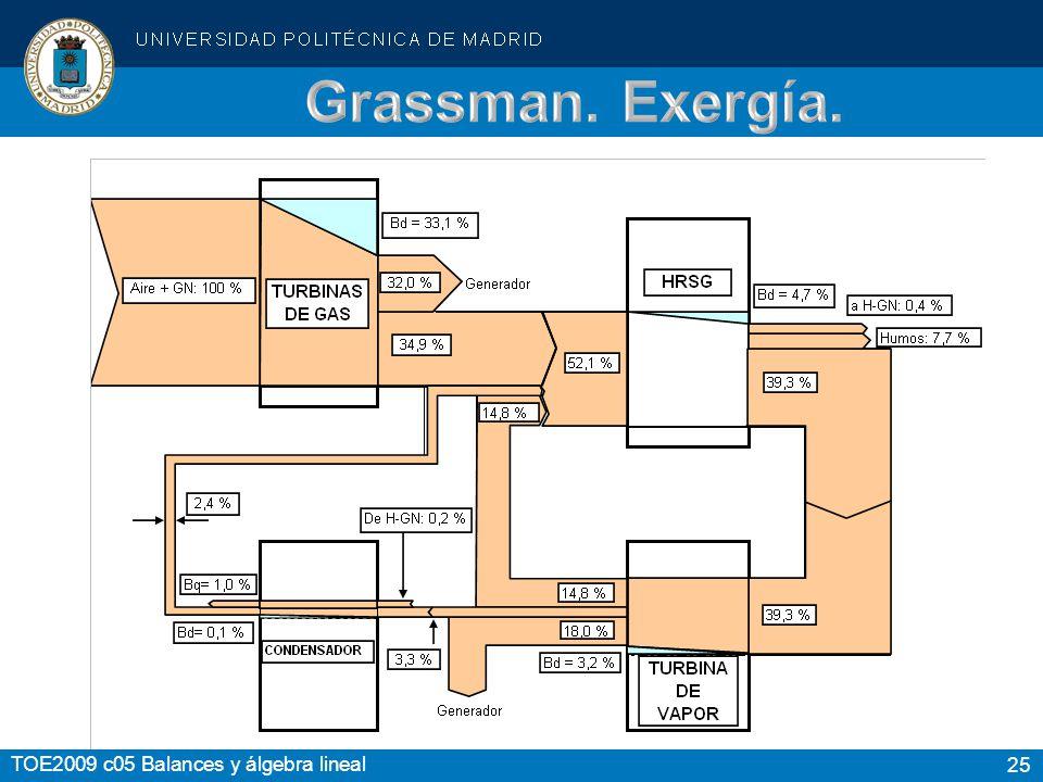 Grassman. Exergía.