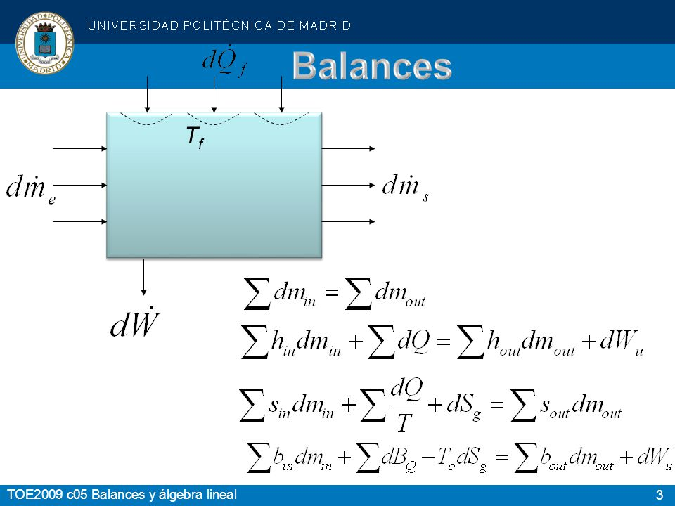 Balances Tf