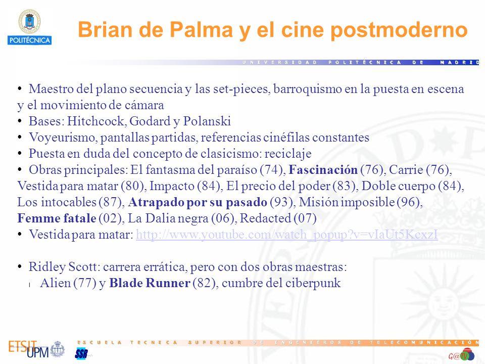 Brian de Palma y el cine postmoderno