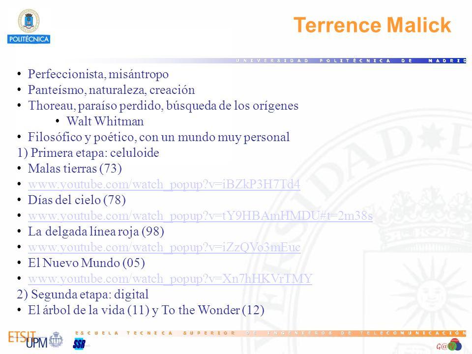 Terrence Malick Perfeccionista, misántropo